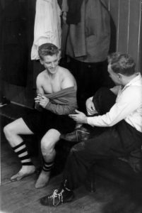 Was there ever a better mentor than this? Lucky Ron Flowers had Billy Wright as a role model with club and country.