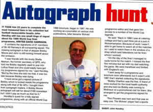 John Hendley, profiled in Backpass magazine over his search for the heroes of 66.