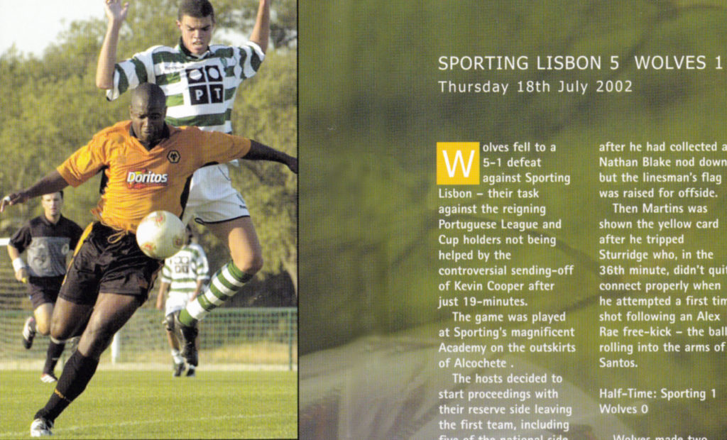 Some of the coverage of the 2002 game in Wolves' programme.