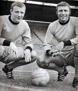 Mike Kenning and Mike Bailey.....team-mates at Charlton, then at Molineux.