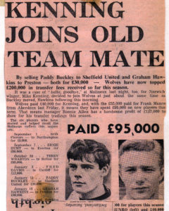 The Sporting Star cutting from the late 1960s showing that Wolves still believed wingers could rule....