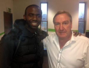 Steve Daley meets Fabrice Muamba in another aspect of his dealings with the media.